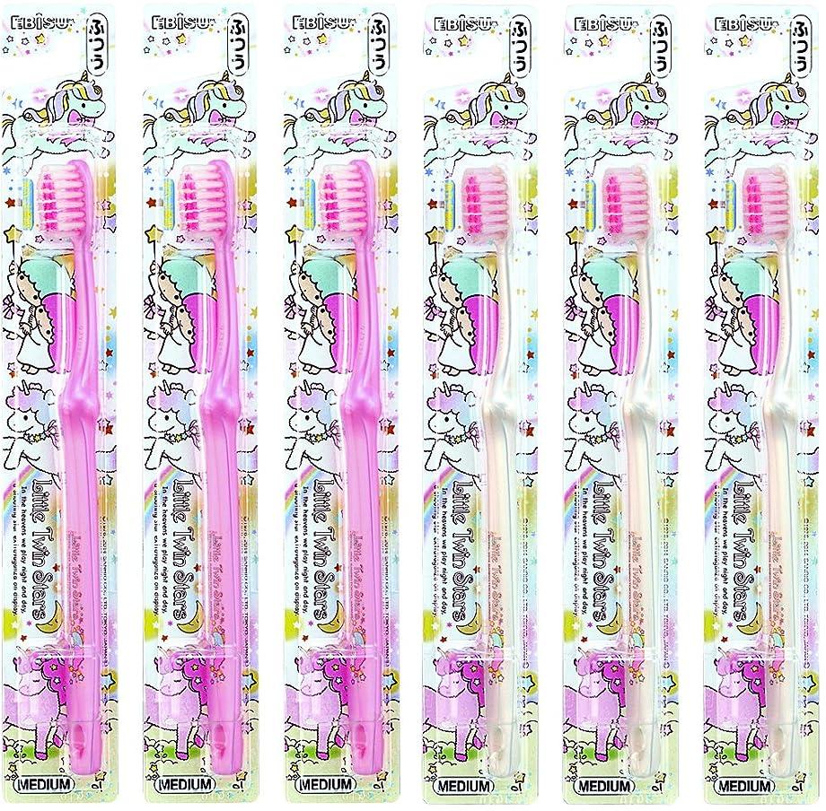 使用法ランデブーその間エビス キャラコレ リトルツインスターズハブラシ ふつう 6本組 色おまかせ