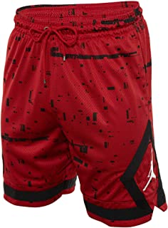 28803aae1fd Men's Jordan Last Shot Diamond Basketball Shorts Gym Red Black AQ0620-687
