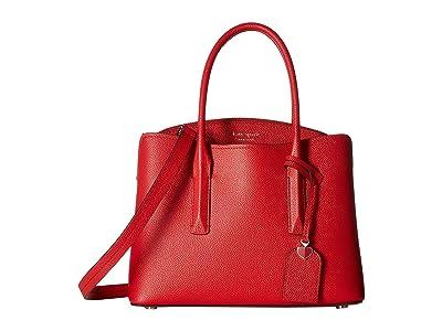 Kate Spade New York Margaux Medium Satchel (Hot Chili) Satchel Handbags