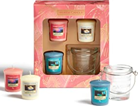 Yankee Candle Gift Set | 3 Scented Votive Candles & 1 Votive Candle Holder | The Last Paradise Collection | Ideal for Moth...