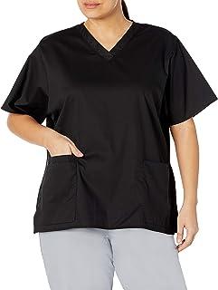 WonderWink Women's Plus-Size Wonderwork V-Neck Scrub Top
