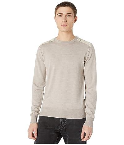 BELSTAFF Kerrigan Merino Wool Paneled Crew Neck Sweater (Oatmeal Melange) Men
