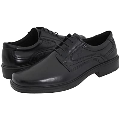 ECCO Helsinki Plain Toe (Black Leather) Men