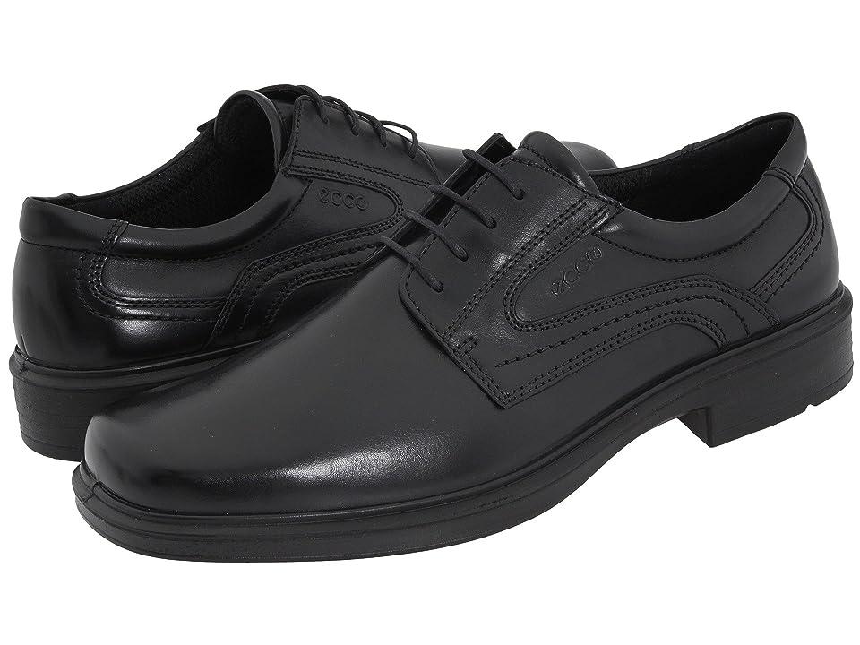 ECCO Helsinki Plain Toe (Black Leather) Men