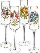 Portmeirion Botanic Garden Set of 4 Champagne Flutes