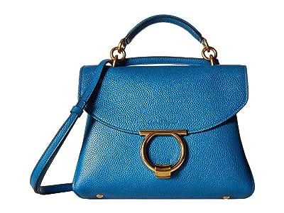 Salvatore Ferragamo Small Top-Handle Bag (Azure) Handbags
