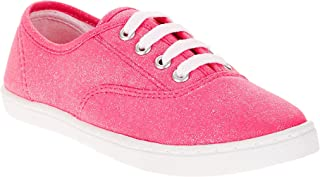 LiAnna's Girls' Canvas Sparkle Lace-up Casual Shoe Size 5M US Pink