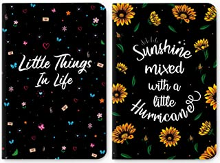 Factor Notes-Little Things in Life (Black) Ruled B6 Notebook-Premium Stationery,Natural Shade P & Factor Notes-Sunshine Mi...