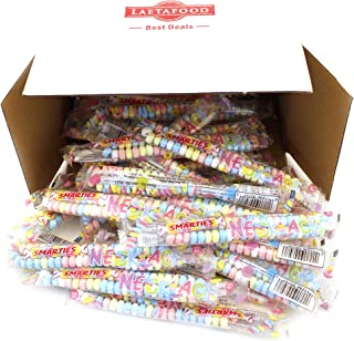 LaetaFood Pack, Smarties Candy Necklaces 0.74 Ounce, Great Birthday Party Candy (37 Count Box)