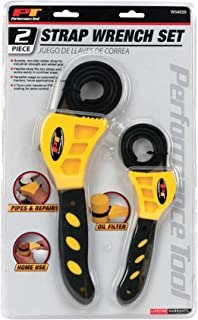 Performance Tool - 2 Pc Strap Wrench Set (W54059), Lubrication - Filter Wrenches - Adjustable