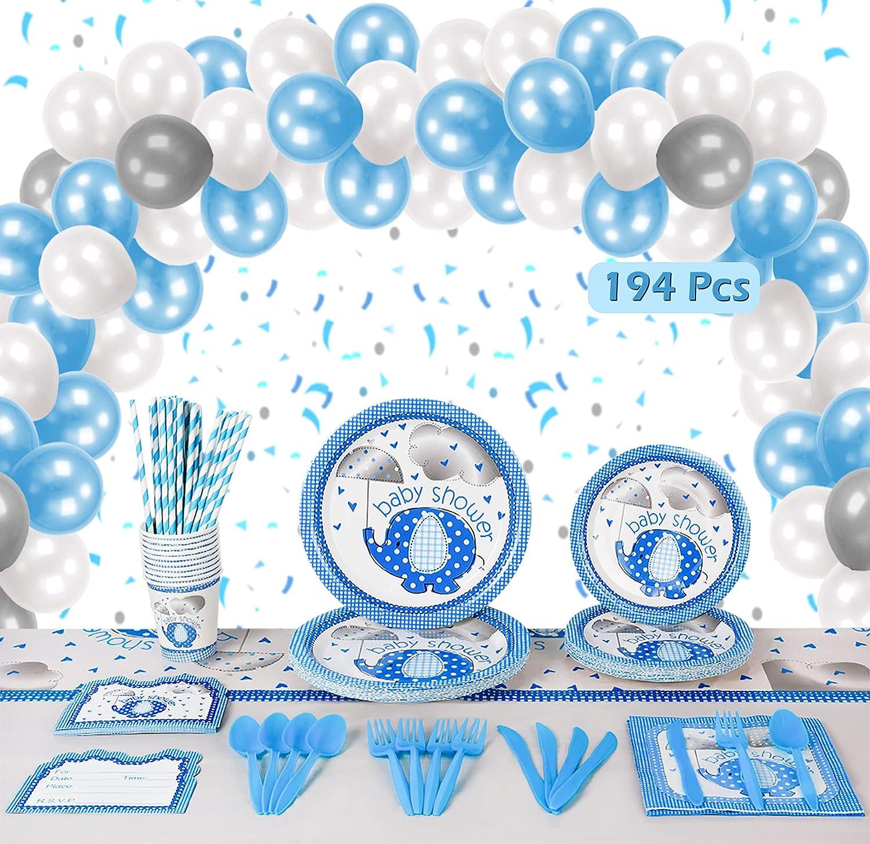 Buy Baby Shower Decorations For Boy   20 Pcs Blue Elephant Design ...