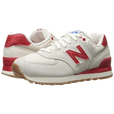 New Balance Classics WL574 Retro Sport (Sea Salt/Chinese Red) Women