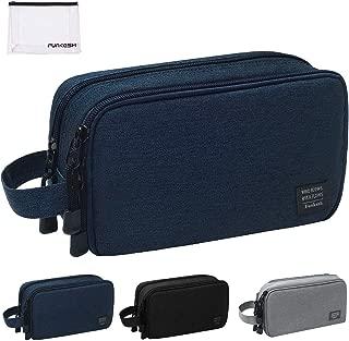 Mens Toiletry Bag Waterproof Organizer Bag Travel Shaving Dopp Kit Perfect Travel Accessory Gift (Dark Blue)