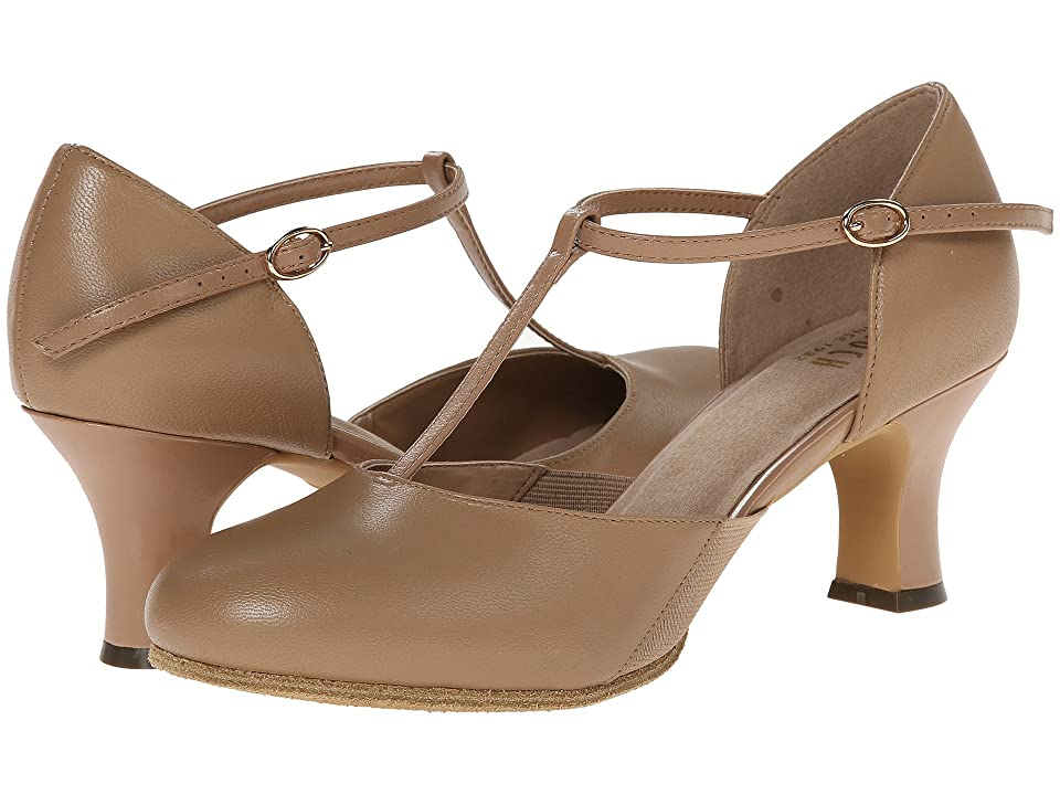1930s Style Shoes – Art Deco Shoes Bloch Sfx Split Flex Tan Womens Dance Shoes $98.00 AT vintagedancer.com