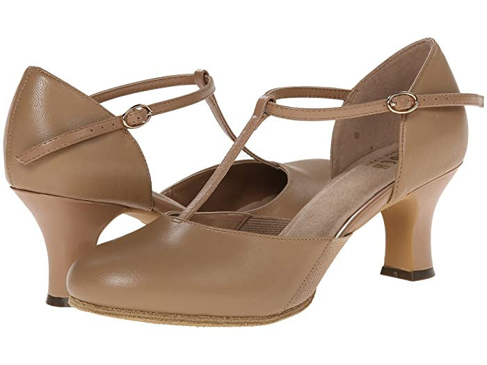 1920s Style Shoes Bloch Sfx Split Flex Tan Womens Dance Shoes $98.00 AT vintagedancer.com