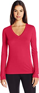 Women's Long-Sleeve V-Neck Tissue T-Shirt