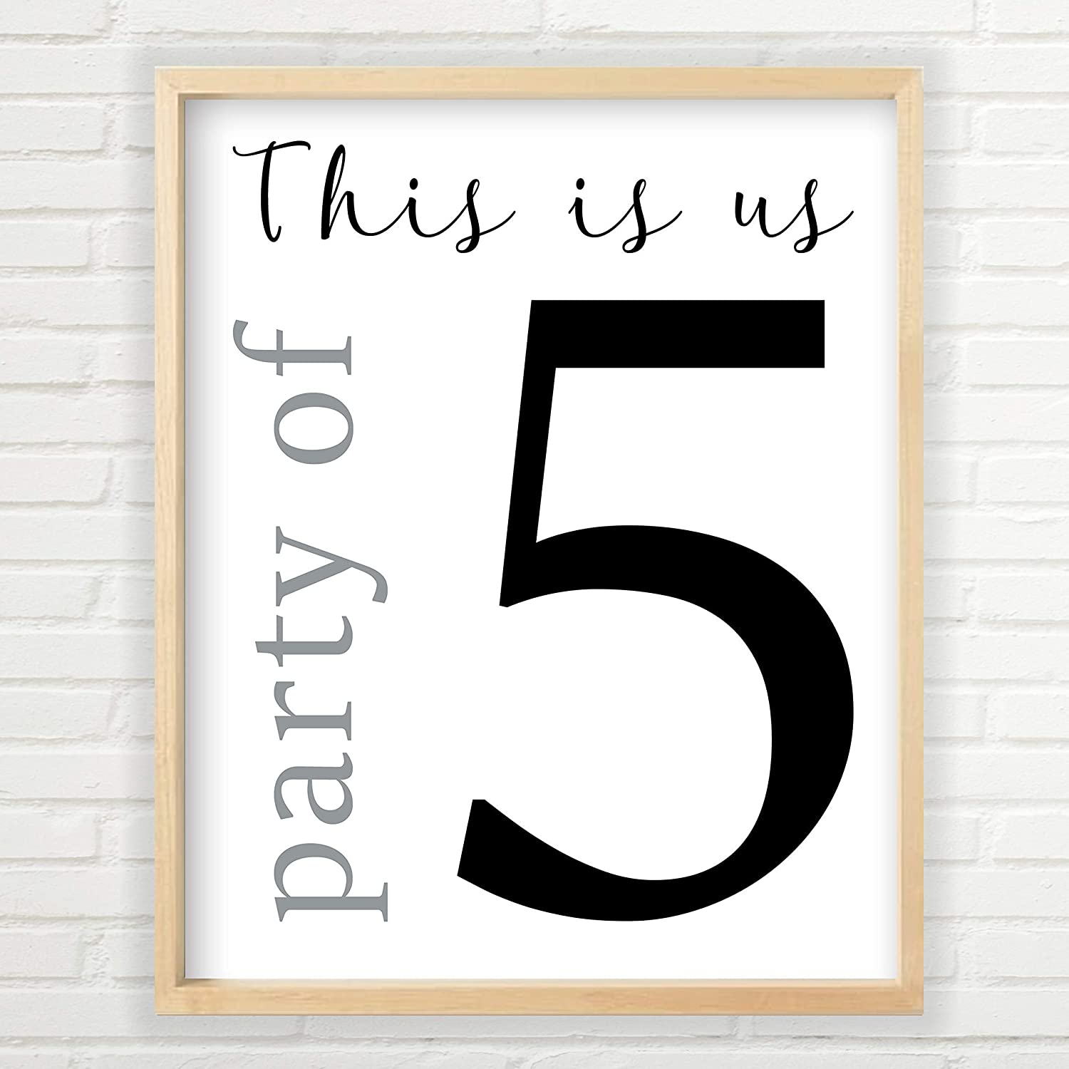 Max 71% OFF Party of 5 Wall Decor 11x14 Print inch Farmhouse Unframed Part Max 82% OFF
