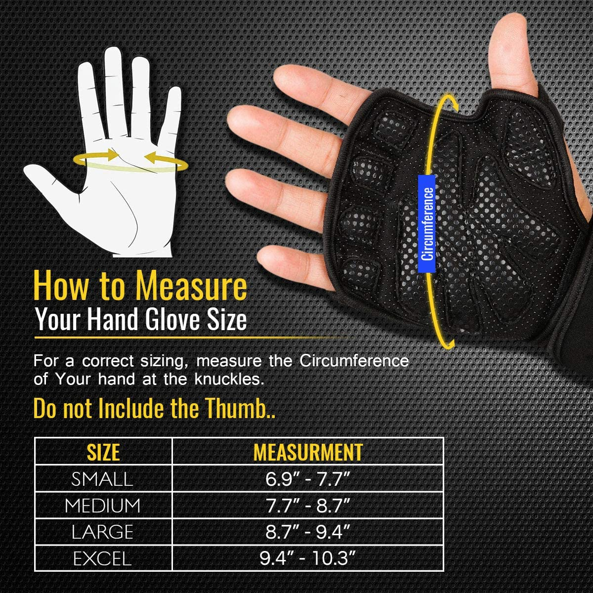 Workout Weight Lifting Gym Gloves with Wrist Wrap Support for Men /& Women Full Ventilated Training Glove Protect Thumb /& Palm