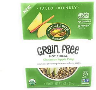 Natures Path, Cereal Hot Cinnamon Apple Crisp Grain Free, 6.21 Ounce