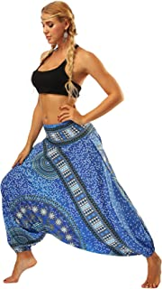 Yoga Pants Loose Women's High Waist Loose Boho Harem Pants gym