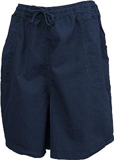 Salem Straits Women's Plus Size 100% Cotton Sheeting Cargo Shorts