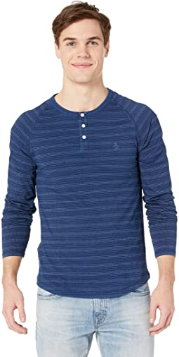 Long Sleeve Dash Stripe Henley