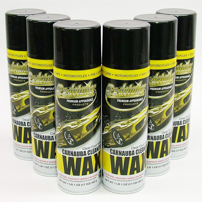 EZ WAX 579221 Premium Detailer Wax Industry Classic No. 1 6 Cleaning Waterless Pack