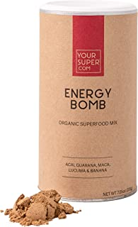 Your Super Energy Bomb Superfood Mix - Plant-Based Energizing Powder, Coffee and Energy Drink Replacement - Non-GMO, Organ...