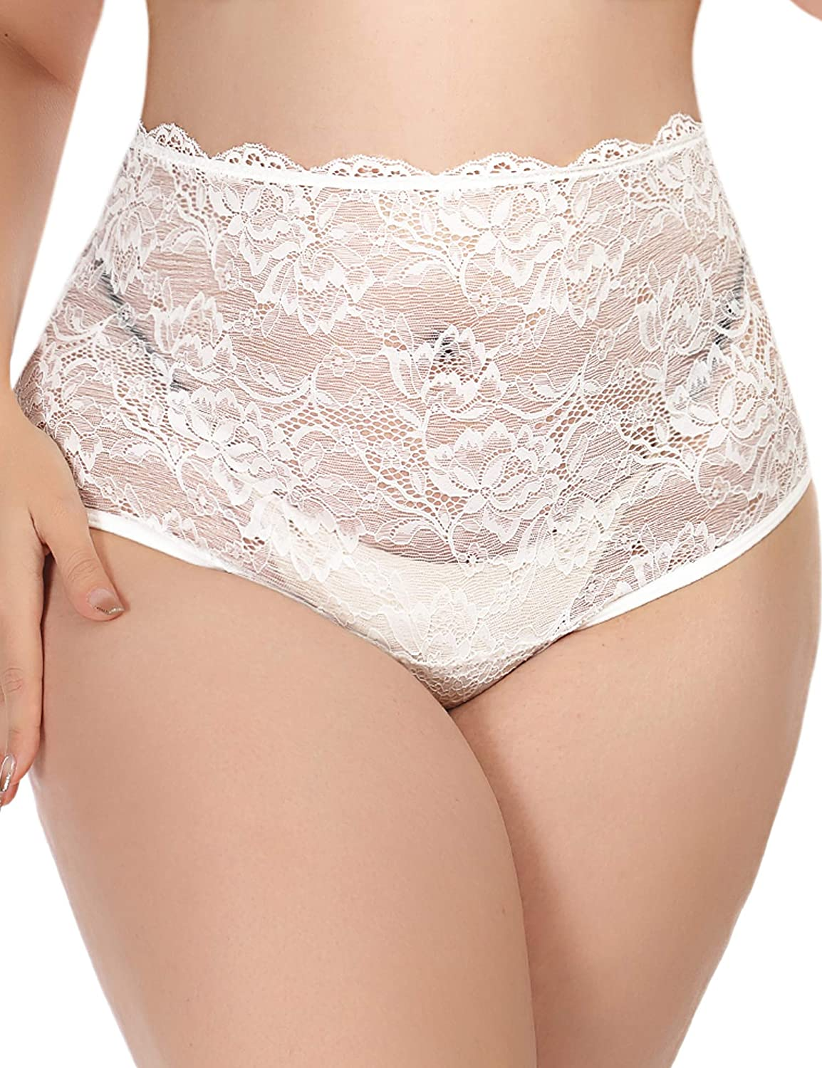 Avidlove Womens Underwear Invisible Seamless Hipster Lace Underwear Full Coverage Panties