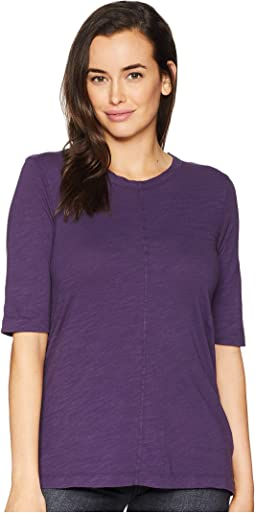 Slub Jersey Elbow Sleeve Swingy Tunic