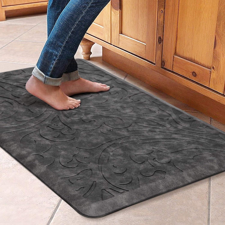 KMAT Kitchen Mat Padded Anti Fatigue Mat Waterproof Non Slip ...