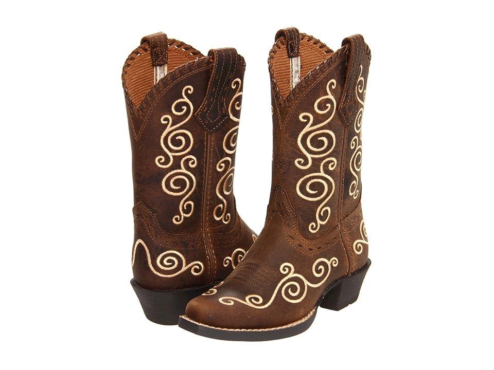 Ariat Kids Shelleen (Toddler/Little Kid/Big Kid) (Distressed Brown) Cowboy Boots