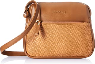 Amazon Brand - Eden & Ivy Women's Eden & Ivy Cross Body with Textured Zipper Pocket (Tan)