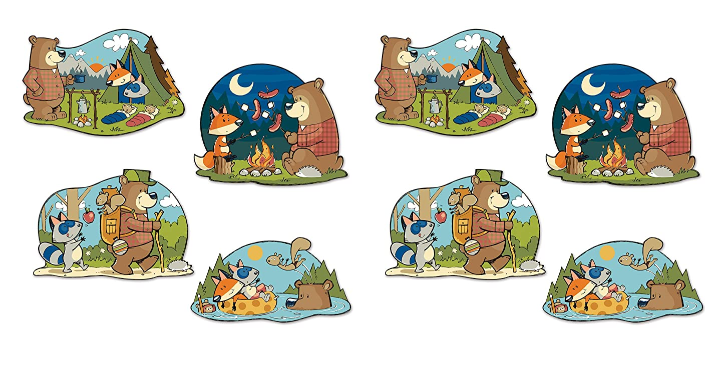 Beistle 54777 Woodland Cutouts, Friend Decorations Forest Animal Signs, 15