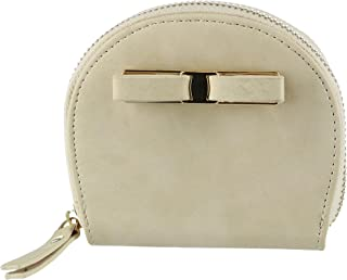 CTM Women's Curve Compact Zip-Around Wallet