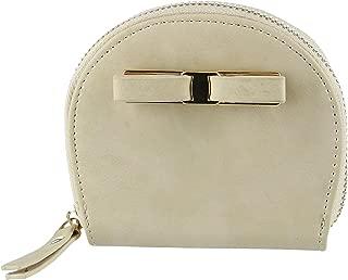 CTM Women's Curve Compact Zip-Around Wallet