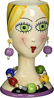 Appletree Design Sugar High Social Vase Lady, 6-1/4-Inch Tall, Decorative and Functional Vase