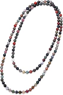 long stone necklace indian designs
