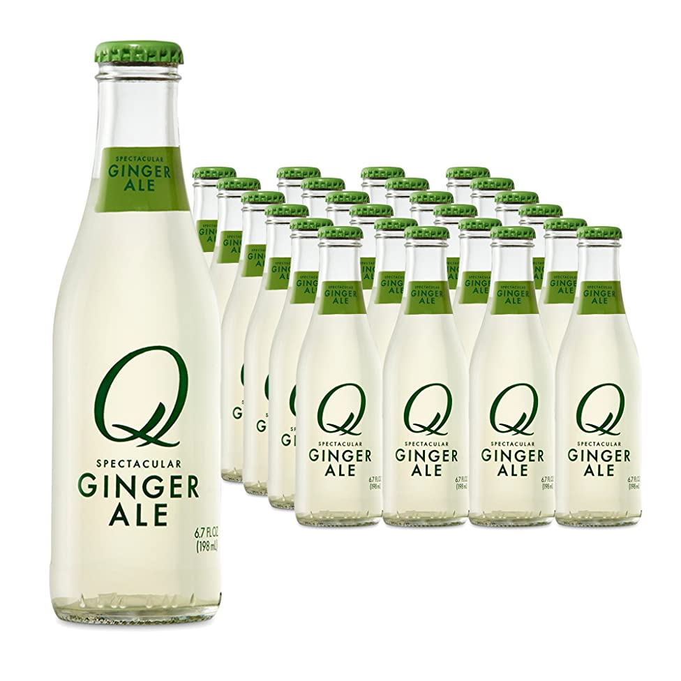 Q Mixers, Q Ginger Ale Spectacular Ginger Ale, Premium Mixer, 6.7 Fl Oz Glass Bottles (Pack of 24)