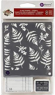 Prima Marketing Midnight Garden Cling Rubber Stamps & Stencil
