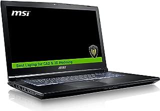 MSI WE72 7RJ-1032US IPS Level 17.3in Workstation Laptop NVIDIA Quadro M2200 i7-7700HQ 32GB 512GB M.2 SATA Windows 10 PRO (Renewed)