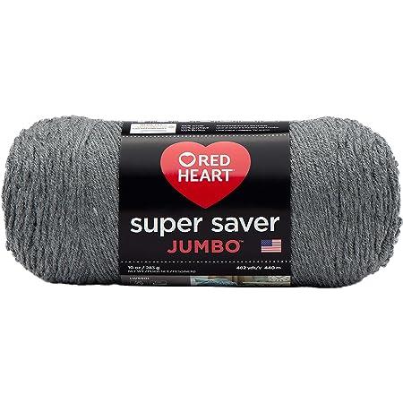 Red Heart Super Saver Jumbo Yarn, Gray Heather