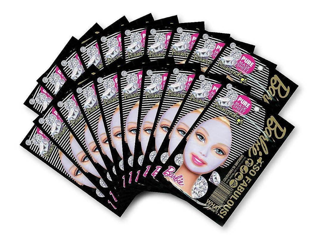 チューリップ数学的なピューバービー (Barbie) フェイスマスク ピュアマスクシートN (ダイアモンド) 25ml×20枚入り [保湿] 顔 シートマスク フェイスパック