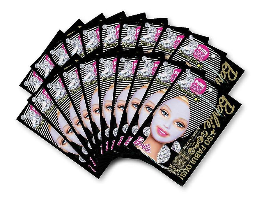 司教墓じゃないバービー (Barbie) フェイスマスク ピュアマスクシートN (ダイアモンド) 25ml×20枚入り [保湿] 顔 シートマスク フェイスパック