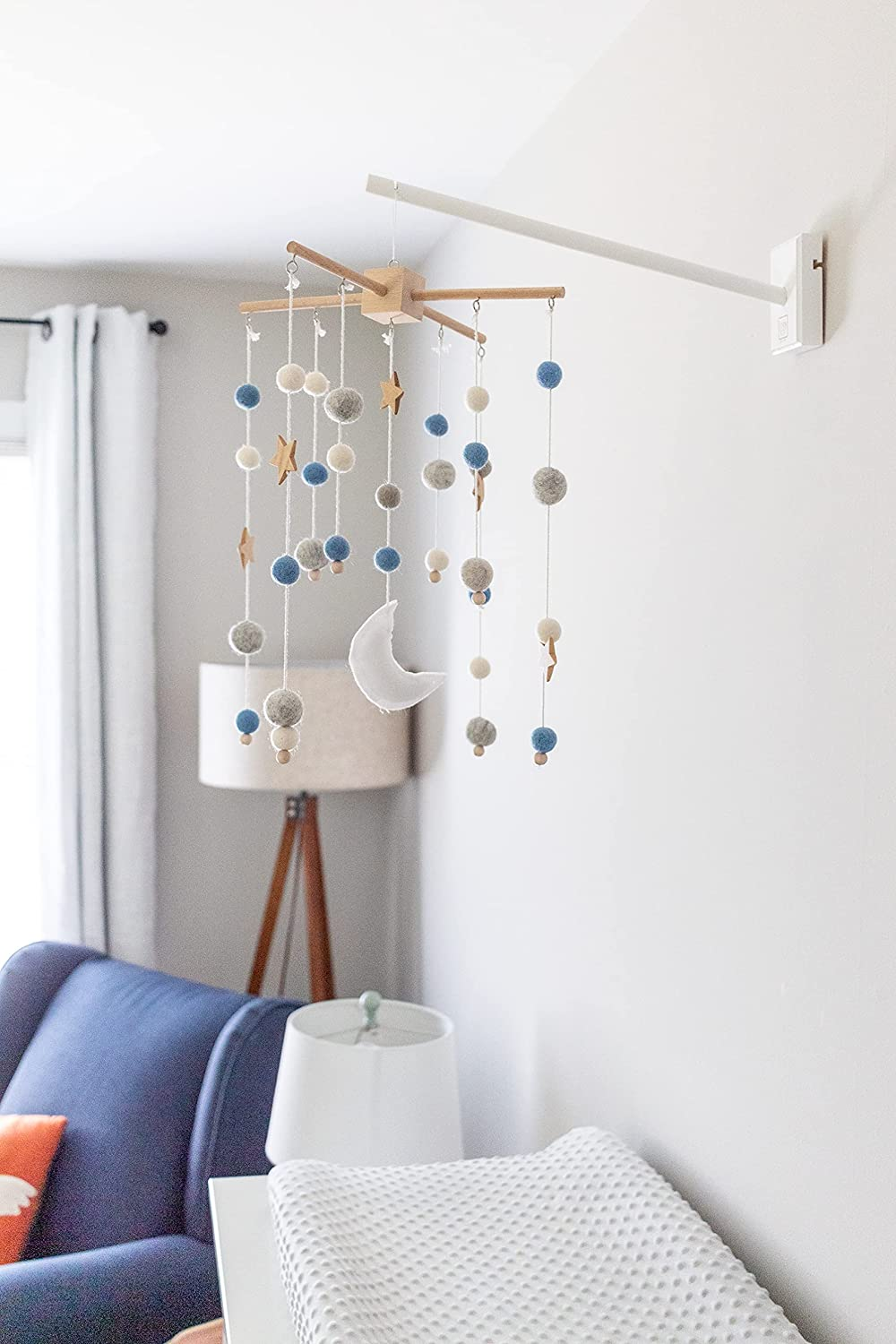 White Wall Mounted Wooden Baby Crib Arm by Joey Co.