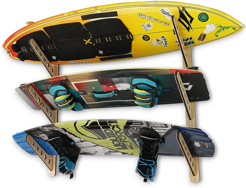 Bombing new work STAUBER Sports Best Board 5 ☆ popular Storage Hanger Horizonta Rack Wood