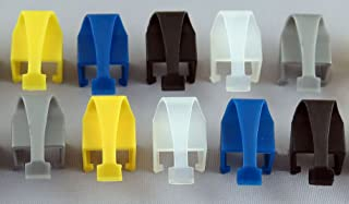 RJCLIP - Broken RJ45 Connector Solution (10 pcs: Assorted Colours of Black/Silver/Blue/Yellow/Clear)