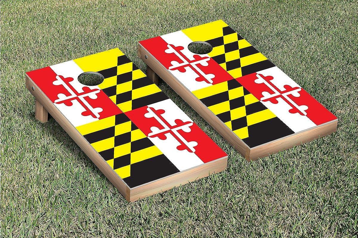 Victory trust Tailgate Maryland Flag Cornhole Game Philadelphia Mall Set