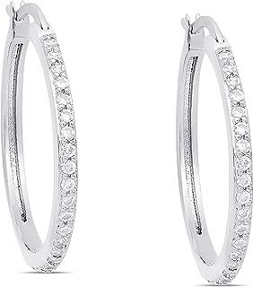 Victoria Townsend Cubic Zirconia Hoop Earrings