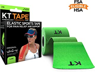 "KT TAPE Original Cotton Elastic Kinesiology Theraeputic Tape - 20 Pre-Cut 10"" Strips, Green"